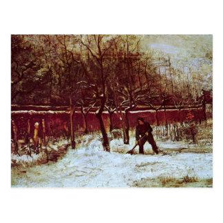 Parsonage Garden at Nuenen in the Snow by van Gogh Postcard