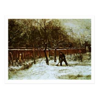 Parsonage Garden in Snow (F194)Van Gogh Fine Art Postcard