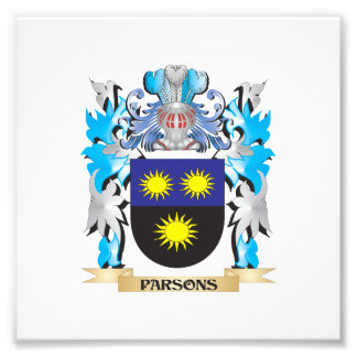 Parsons Coat of Arms - Family Crest Photograph