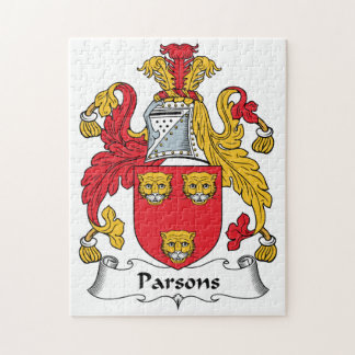 Parsons Family Crest Jigsaw Puzzle