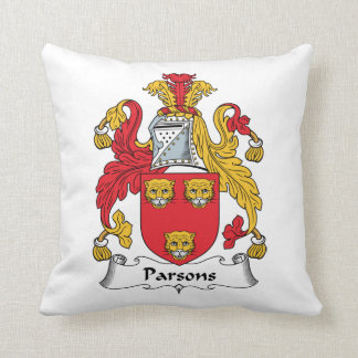 Parsons Family Crest Throw Pillows