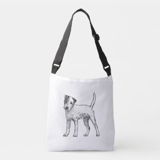 Parsons Terrier Dog Bag, Double Sided Crossbody Bag