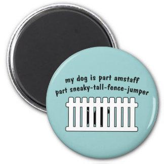 Part AmStaff Part Fence-Jumper 2 Inch Round Magnet