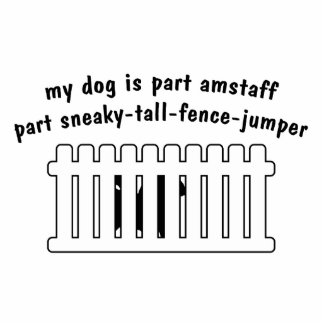 Part AmStaff Part Fence-Jumper Standing Photo Sculpture