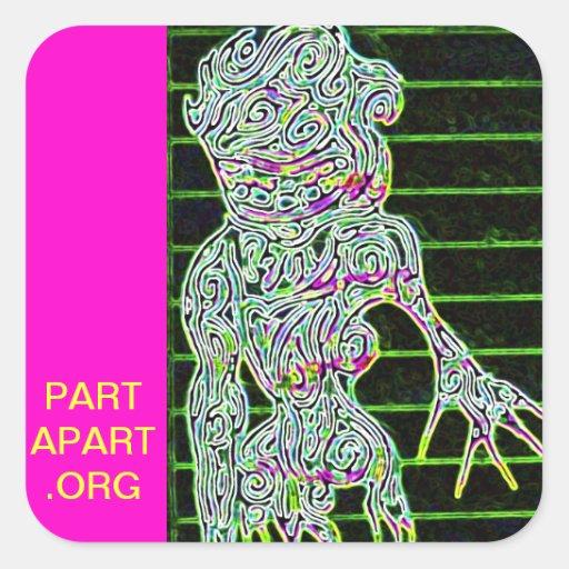 Part Apart Stickers