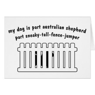 Part Australian Shepherd Part Fence-Jumper Card