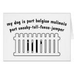 Part Belgian Malinois Part Fence-Jumper Cards