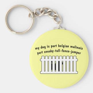 Part Belgian Malinois Part Fence-Jumper Keychain