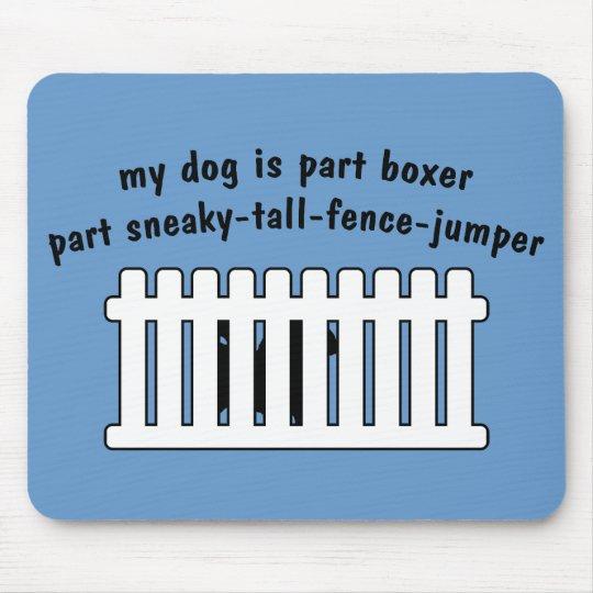 Part Boxer Part Fence-Jumper Mouse Pad