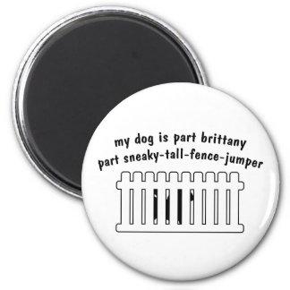 Part Brittany Part Fence-Jumper 2 Inch Round Magnet
