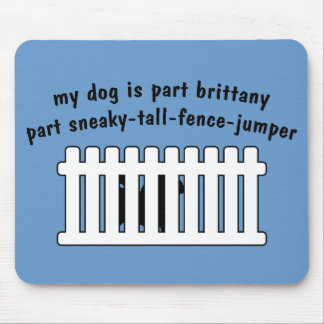 Part Brittany Part Fence-Jumper Mouse Pad