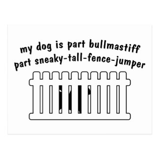 Part Bullmastiff Part Fence-Jumper Postcard
