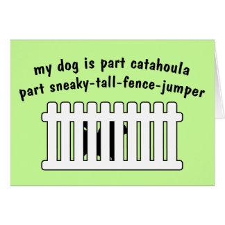Part Catahoula Part Fence-Jumper Card