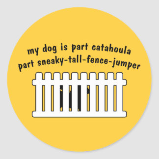 Part Catahoula Part Fence-Jumper Classic Round Sticker