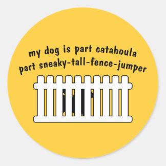 Part Catahoula Part Fence-Jumper Classic Round Sticker