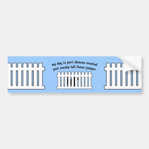 Part Chinese Crested Part Fence-Jumper Car Bumper Sticker