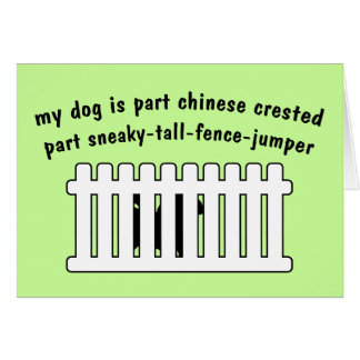 Part Chinese Crested Part Fence-Jumper Card
