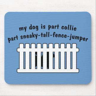 Part Collie Part Fence-Jumper Mouse Pad