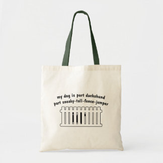 Part Dachshund Part Fence-Jumper Tote Bags