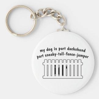 Part Dachshund Part Fence-Jumper Keychains