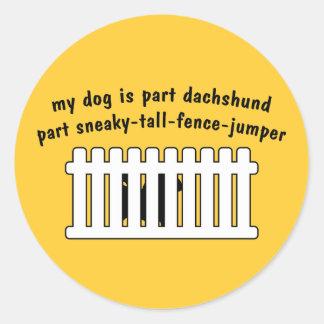 Part Dachshund Part Fence-Jumper Stickers