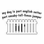 Part English Setter Part Fence-Jumper Standing Photo Sculpture