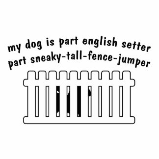 Part English Setter Part Fence-Jumper Statuette