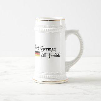 Part German All Trouble Beer Stein