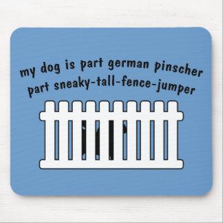 Part German Pinscher Part Fence-Jumper Mouse Pad