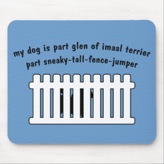Part Glen of Imaal Terrier Part Fence-Jumper Mouse Pad