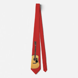 PART GUITAR- ON RED NECK TIE
