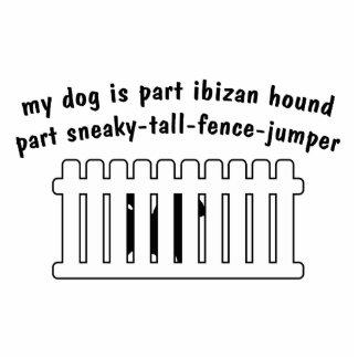 Part Ibizan Hound Part Fence-Jumper Standing Photo Sculpture