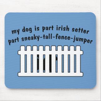 Part Irish Setter Part Fence-Jumper Mouse Pad