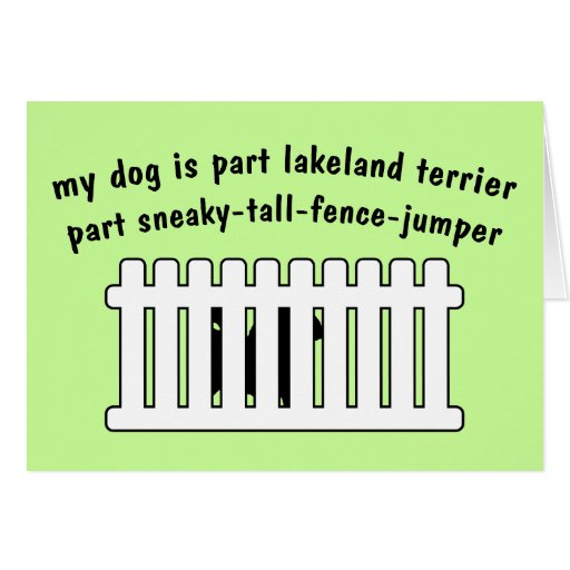 Part Lakeland Terrier Part Fence-Jumper Greeting Card