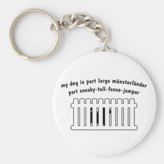 Part Large Munsterlander Part Fence-Jumper Keychain