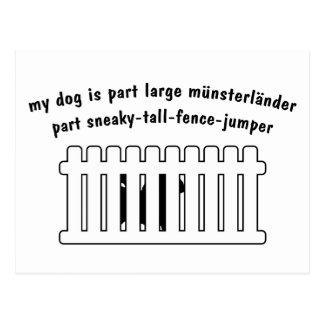 Part Large Munsterlander Part Fence-Jumper Postcard