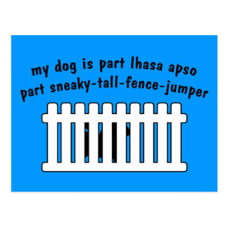 Part Lhasa Apso Part Fence-Jumper Postcard