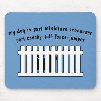 Part Miniature Schnauzer Part Fence-Jumper Mouse Pad