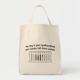 Part Newfoundland Part Fence-Jumper Tote Bag