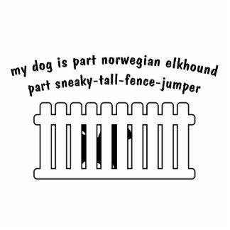 Part Norwegian Elkhound Part Fence-Jumper Statuette