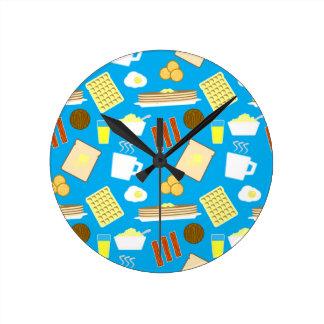 Part of a Balanced Breakfast Round Clock