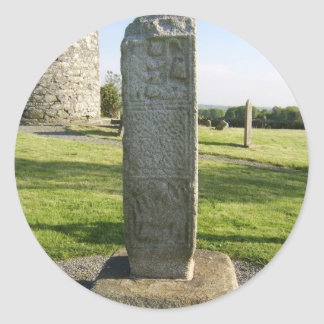 Part Of A High Cross On Plinth Looking Towards Rem Round Stickers