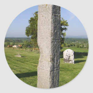 Part Of A Second Less Ornate High Cross In Old Kil Classic Round Sticker