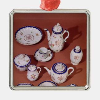 Part of a Worcester monogrammed tea service Metal Ornament