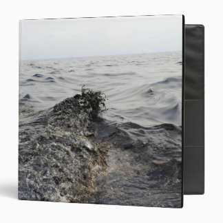 Part of an oil slick in the Gulf of Mexico 3 Ring Binder