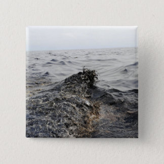 Part of an oil slick in the Gulf of Mexico Pinback Button