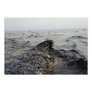 Part of an oil slick in the Gulf of Mexico Poster
