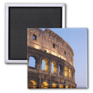 Part of Colosseum at dusk 2 Inch Square Magnet