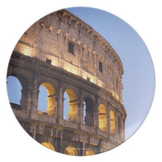 Part of Colosseum at dusk Dinner Plate