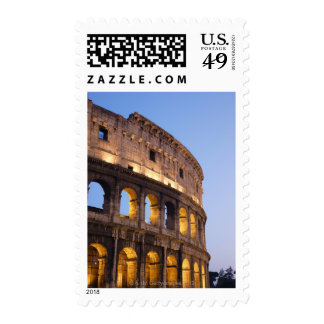 Part of Colosseum at dusk Postage